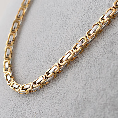 cheap Chain Necklaces-Men's Chain Necklace Ladies Vintage Fashion Hip-Hop Titanium Steel Black Silver Golden Necklace Jewelry For Party Daily Casual