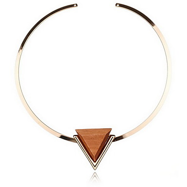 Női Rövid nyakláncok Nyaklánc medálok Nyilatkozat nyakláncok Circle Shape Ötvözet Személyre szabott Vintage Party Bohém Méretes ékszerek