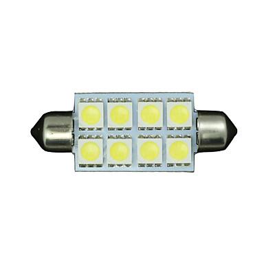 10 x zuiver wit 42mm 5050 festoen koepel kaart interieur LED lamp 211-2 578 569