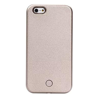 voordelige iPhone-hoesjes-hoesje Voor Apple iPhone X / iPhone 8 Plus / iPhone 8 Schokbestendig / Stofbestendig / LED-knipperlicht Achterkant Effen Hard PU-nahka