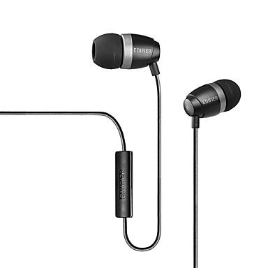 H210P 귀에 유선 헤드폰 플라스틱 모바일폰 이어폰 하이파이 마이크 포함 헤드폰