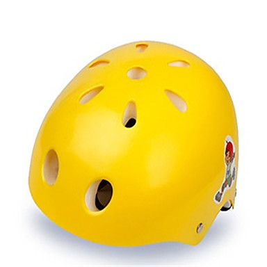 KUYOU 스케이트 헬맷 아동 헬멧 CE 인증 스포츠 청년 용 사이클링 인라인 스케이트 스케이트보드 옐로우 레드 그린 블루 핑크
