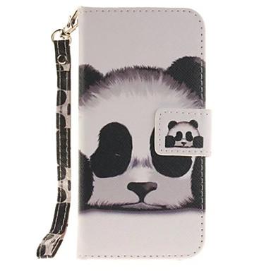 Kompatibilitás iPhone 8 iPhone 8 Plus iPhone 7 iPhone 6 tokok Kártyatartó Állvánnyal Flip Teljes védelem Case Panda Állat Kemény Műbőr Bőr