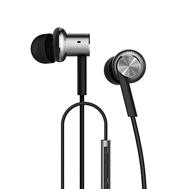 cheap Headsets & Headphones-Xiaomi Hybrid In Ear Wired Headphones Hybrid Plastic Mobile Phone Earphone Noise-isolating / with Microphone / with Volume Control Headset