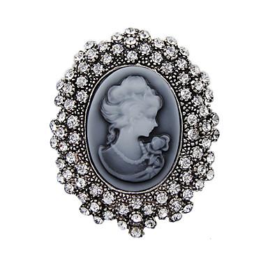 Damskie Broszki - Kryształ Vintage Broszka Silver Na Impreza / Codzienny / Casual