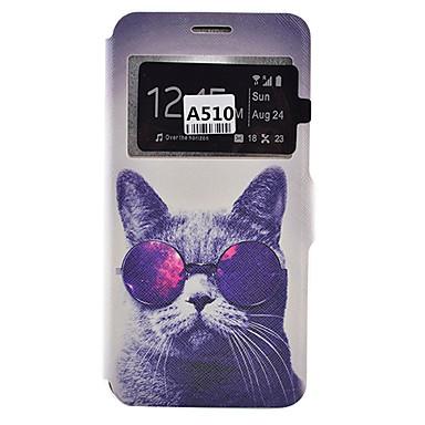 케이스 제품 Samsung Galaxy 삼성 갤럭시 케이스 카드 홀더 방진 충격방지 스탠드 전체 바디 케이스 개 소프트 PU 가죽 용 A9(2016) A7(2016) A5(2016) A3(2016) A5