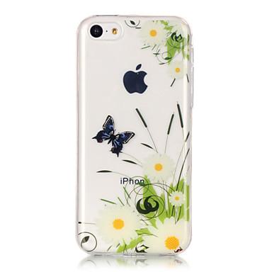 Mert iPhone 6 tok / iPhone 6 Plus tok IMD / Ultra-vékeny / Átlátszó / Minta Case Hátlap Case Pillangó Puha TPU AppleiPhone 6s Plus/6 Plus