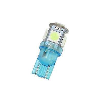 10x ijsblauw t10 5SMD 5050 leidde auto koepel licentie kaart licht W5W 158 192 194 168
