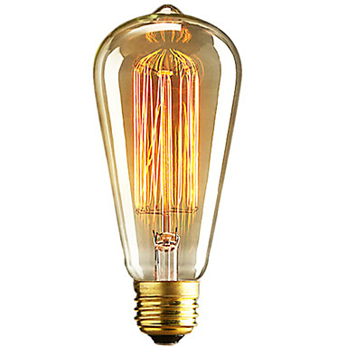 1pc 40W E26 / E27 ST64 Warm White 2300k Retro Dimmable Decorative Incandescent Vintage Edison Light Bulb 220-240V