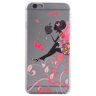Для Кейс для iPhone 6 / Кейс для iPhone 6 Plus Прозрачный Кейс для Задняя крышка Кейс для Соблазнительная девушка Твердый PC AppleiPhone