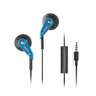 H185P EARBUD 유선 헤드폰 플라스틱 모바일폰 이어폰 하이파이 마이크 포함 헤드폰