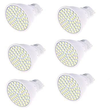 GU10 LED 스팟 조명 MR16 60 LED가 SMD 2835 장식 따뜻한 화이트 차가운 화이트 350lm 3000/6000K AC 220-240V