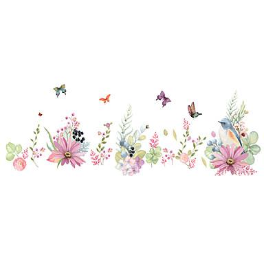 Zwierzęta Romans Wzory roślinne Naklejki Naklejki ścienne lotnicze Dekoracyjne naklejki ścienne, PVC Dekoracja domowa Naklejka Ściana