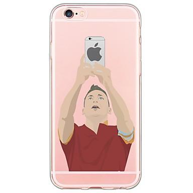 Kompatibilitás iPhone X iPhone 8 iPhone 6 iPhone 6 Plus tokok Ultra-vékeny Áttetsző Hátlap Case Rajzfilm Puha Hőre lágyuló poliuretán mert