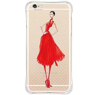 Mert iPhone 6 tok / iPhone 6 Plus tok Ütésálló / Porálló / Minta Case Hátlap Case Szexi lány Puha TPU AppleiPhone 6s Plus/6 Plus / iPhone