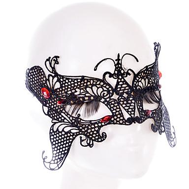 Lace Mask 1db Ünnepi dekoráció fél maszk Menő / Divat Egy méret Fekete Csipke
