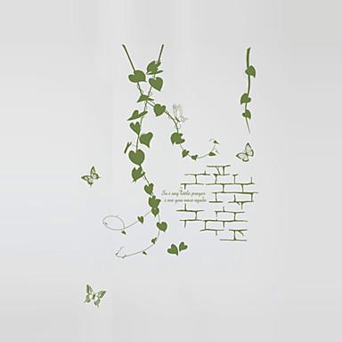Romantika Divat Botanikus Falimatrica Repülőgép matricák Dekoratív falmatricák lakberendezési fali matrica Glass / fürdőszoba Fal