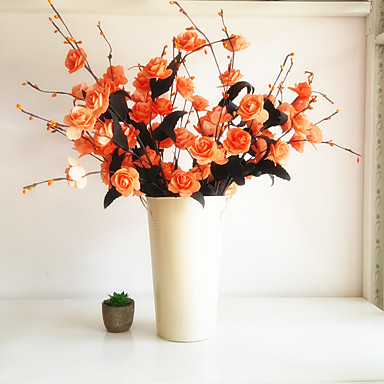 1 Gałąź Poliester Plastikowy Śliwkowy Bukiety na stół Sztuczne Kwiaty