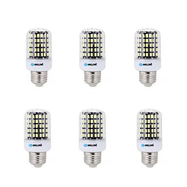 BRELONG® 6db 7W 450lm E14 / E26 / E27 / B22 LED kukorica izzók B 108 LED gyöngyök SMD 5733 Dekoratív Meleg fehér / Hideg fehér 200-240V /