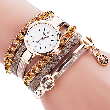 Women's Quartz Bracelet Watch / Hot Sale PU Band Casual Fashion Cool Black White Blue Red Brown Pink