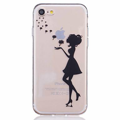 용 아이폰7케이스 / 아이폰7플러스 케이스 / 아이폰6케이스 패턴 케이스 뒷면 커버 케이스 섹시 레이디 소프트 TPU Apple아이폰 7 플러스 / 아이폰 (7) / iPhone 6s Plus/6 Plus / iPhone 6s/6 / iPhone