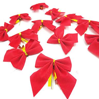 12PCS / 많은 크리스마스 bowknot 크리스마스 선물 크리스마스 트리 장식