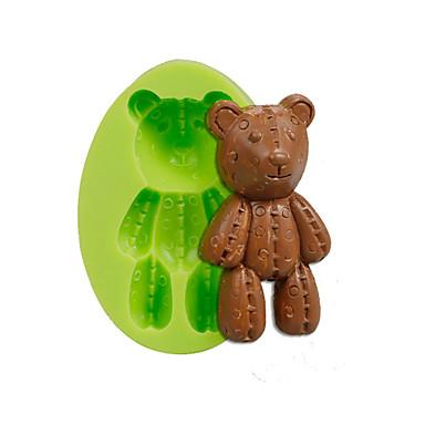 baba medve szilikon formák fondant torta dekorációs eszközök színes véletlenszerű