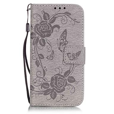 Mert iPhone 7 tok / iPhone 7 Plus tok / iPhone 6 tok Kártyatartó / Dombornyomott / Minta Case Teljes védelem Case Pillangó Kemény Műbőr
