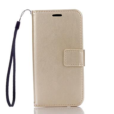 Mert Samsung Galaxy tok Kártyatartó / Pénztárca / Állvánnyal / Flip Case Teljes védelem Case Egyszínű Kemény Műbőr SamsungJ5 (2016) / J3