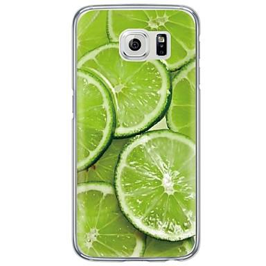 Mert Samsung Galaxy S7 Edge Ultra-vékeny / Áttetsző Case Hátlap Case Gyümölcs Puha TPU SamsungS7 edge / S7 / S6 edge plus / S6 edge / S6