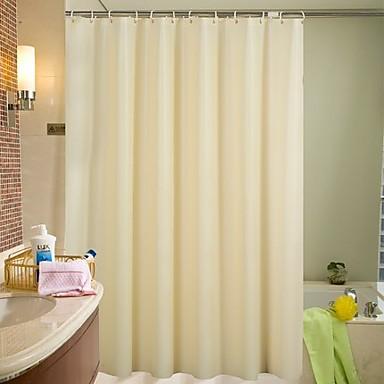 Zasłony prysznicowe Nowoczesny PEVA Jendolity kolor Machine Made