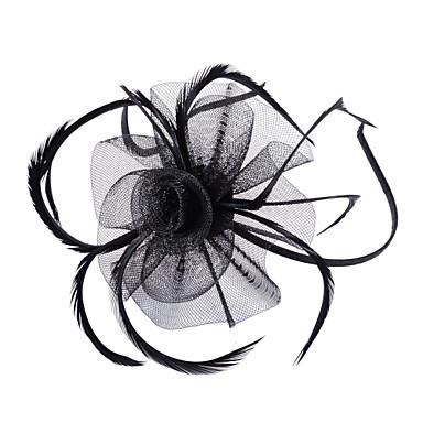 ieftine Bijuterii de Păr-Pentru femei Vintage Petrecere Pană Material Textil Fascinators Nuntă Petrecere