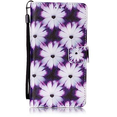 용 화웨이 케이스 / P9 Lite 카드 홀더 / 지갑 / 플립 / 패턴 케이스 풀 바디 케이스 꽃장식 하드 인조 가죽 Huawei 화웨이 P9 라이트