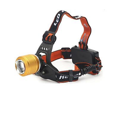 LED손전등 헤드램프 LED 890 루멘 2 모드 크리T6 18650 조절가능한 초점 충전식 방수 캠핑/등산/동굴탐험 일상용