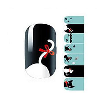 14Pcs/Sheet Nail Art matrica Rajzfilmfigura Szeretetreméltő smink Kozmetika Nail Art Design