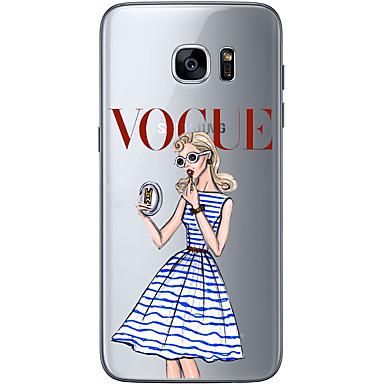 케이스 제품 Samsung Galaxy Samsung Galaxy S7 Edge 패턴 뒷면 커버 섹시 레이디 소프트 TPU 용 S7 edge S7 S6 edge plus S6 edge S6