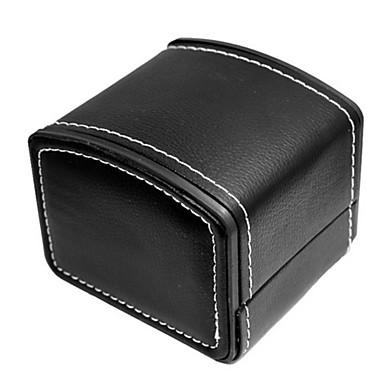 abordables Embalajes y expositores para joyería-Cuero de PU / piel genuina Ver Banda Correa para Negro 20cm / 7.9 Pulgadas 2cm / 0.8 Pulgadas