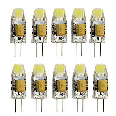 10pcs 2W 350lm G4 LED Bi-pin 조명 T 1 LED 비즈 고성능 LED 장식 따뜻한 화이트 차가운 화이트 12V