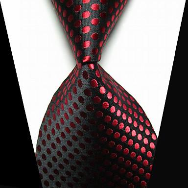 남성용 클립 타이 패션 블랙 레드 패브릭 Tie Bar