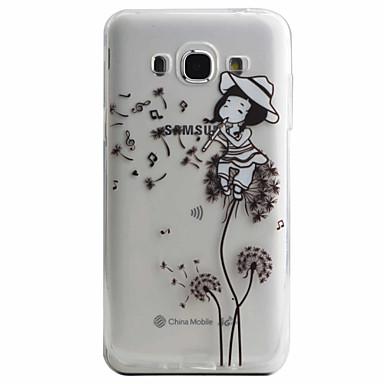 Mert Samsung Galaxy tok Minta Case Hátlap Case Szexi lány Puha TPU Samsung J5 (2016) / J5 / J3 (2016)