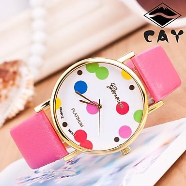 pentru Doamne Ceas Sport Ceas Elegant Ceas La Modă Ceas de Mână Chineză Quartz Piele Autentică Bandă Charm Casual Creative Multicolor