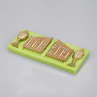 도매 동화 성 문& 퐁당 케이크를위한 창 실리콘 몰드 초콜릿 랜덤 베이킹 색 무작위