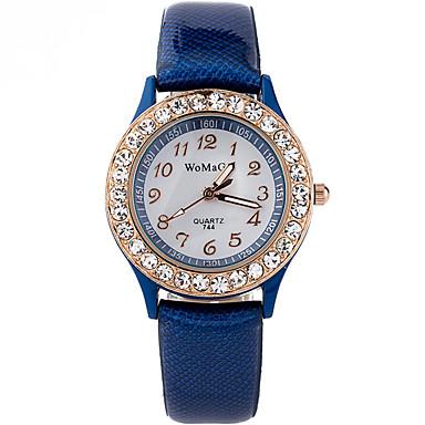 Damskie Kwarcowy Zegarek na nadgarstek Stras / sztuczna Diament PU Pasmo Na co dzień Modny Nowoczesne Czarny Biały Niebieski Czerwony