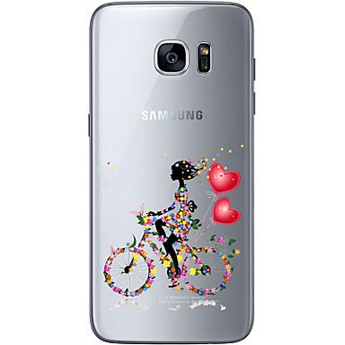 용 Samsung Galaxy S7 Edge 투명 / Other 케이스 뒷면 커버 케이스 심장 소프트 TPU Samsung S7 edge / S7 / S6 edge plus / S6 edge / S6