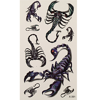 1 타투 스티커 애니멀 시리즈 scorpion 플래시 문신 임시 문신
