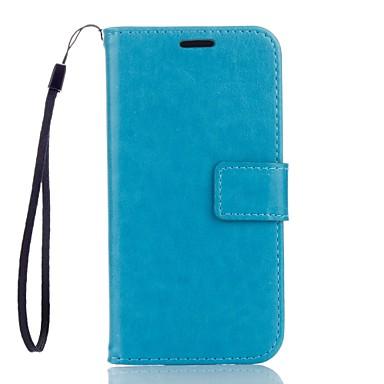 Mert Samsung Galaxy S7 Edge Pénztárca / Kártyatartó / Állvánnyal Case Teljes védelem Case Egyszínű Kemény Műbőr SamsungS7 edge / S7 / S6