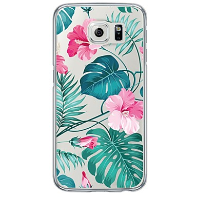 Case For Samsung Galaxy Samsung Galaxy S7 Edge Ultra-thin Translucent Back Cover Flower Soft TPU for S7 edge S7 S6 edge plus S6 edge S6
