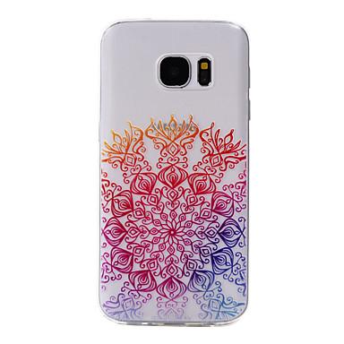 Mert Samsung Galaxy S7 Edge Minta Case Hátlap Case Virág Puha TPU Samsung S7 edge / S7