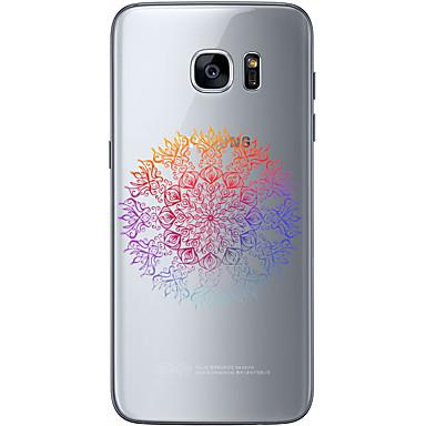 Kılıf Na Samsung Galaxy Samsung Galaxy S7 Edge Wzór Czarne etui Kwiaty Miękkie TPU na S7 edge S7 S6 edge plus S6 edge S6