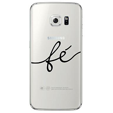 Kompatibilitás Samsung Galaxy S7 Edge tokok Átlátszó Minta Hátlap Case Szó / bölcselet Puha Hőre lágyuló poliuretán mert Samsung S7 edge
